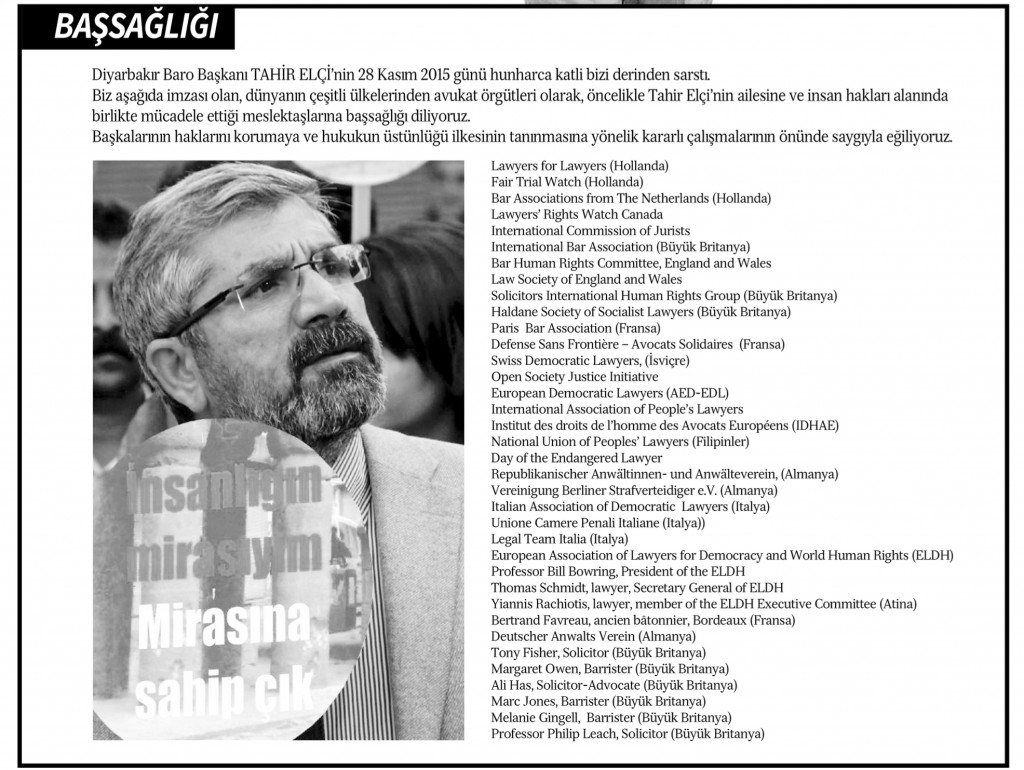 Tahir Elci 2nd Obituary