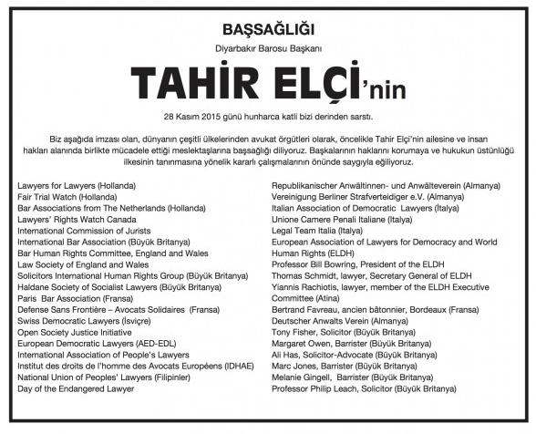 Turkey Elci Obit