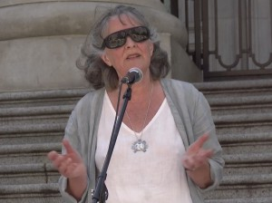 Gail Davidson 30 May 2015 Vancouver Rally Against Bill C-51
