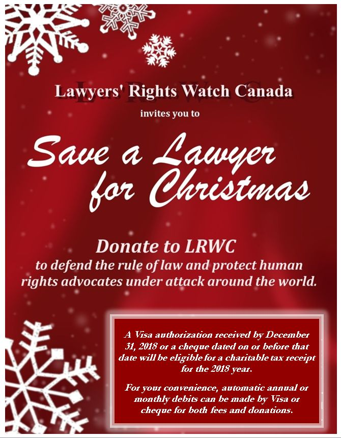 Save A Lawyer For Christmas Donate Before 31 December 2018